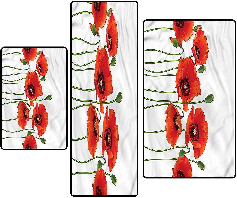 Floral Non-Slip Kitchen Mat Runner Set Rug Flower Spring 5% OFF Season online shop