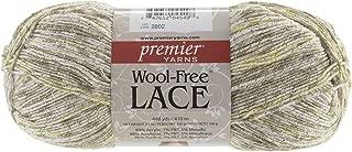 Premier Yarns Free Lace Wool Yarn, White Gold