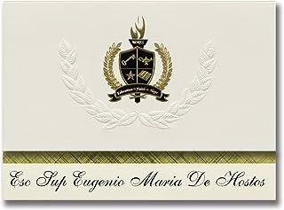 Signature Ankündigungen ESC SUP Eugenio Maria de hostos (Mayaguez-, PR) Graduation Ankündigungen, Presidential Stil, Elite Paket 25 Stück mit Gold & Schwarz Metallic Folie Dichtung B078VCVDS1  Neue Sorten werden eingeführt