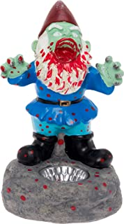 Solar Zombie Garden Gnome - Scary Lawn Gnome Statue by GreenLighting