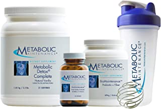 Metabolic Maintenance Restorative Cleanse Kit - 21 Day Detox with Pea Protein Meal Replacement, Probiotics, Prebiotics, Shaker Bottle + Guide