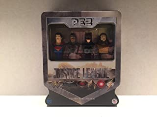 PEZ Candy Justice League Gift Set in Tin - Superman, Exclusive Cyborg, Batman and Aquaman