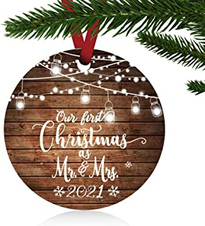 Our First Christmas Mr Mrs Ornament