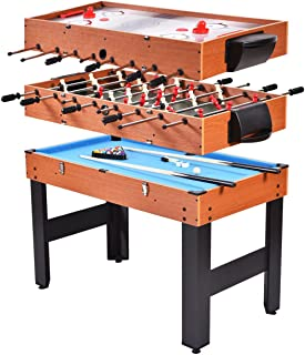 "Giantex Multi Game Table, 3-in-1 48"" Combo Game Table w/Soccer, Billiard, Slide Hockey, Perfect for Game Rooms, Arcades, Bars, Parties, Family Night"