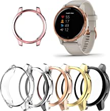 [6 Pack] Screen Protector Compatible with Garmin venu 2/vivoactive 4, All-Around Protective Cover Case Soft TPU Plated Bum...