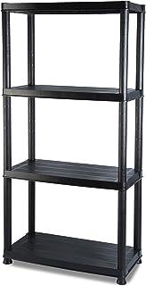 Addis 4 schowek na półki, czarny, 30 cm