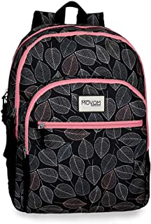 Leaves, Mochila Doble Compartimento Adaptable A Carro, 46 cm, 25.81 liters, Coral