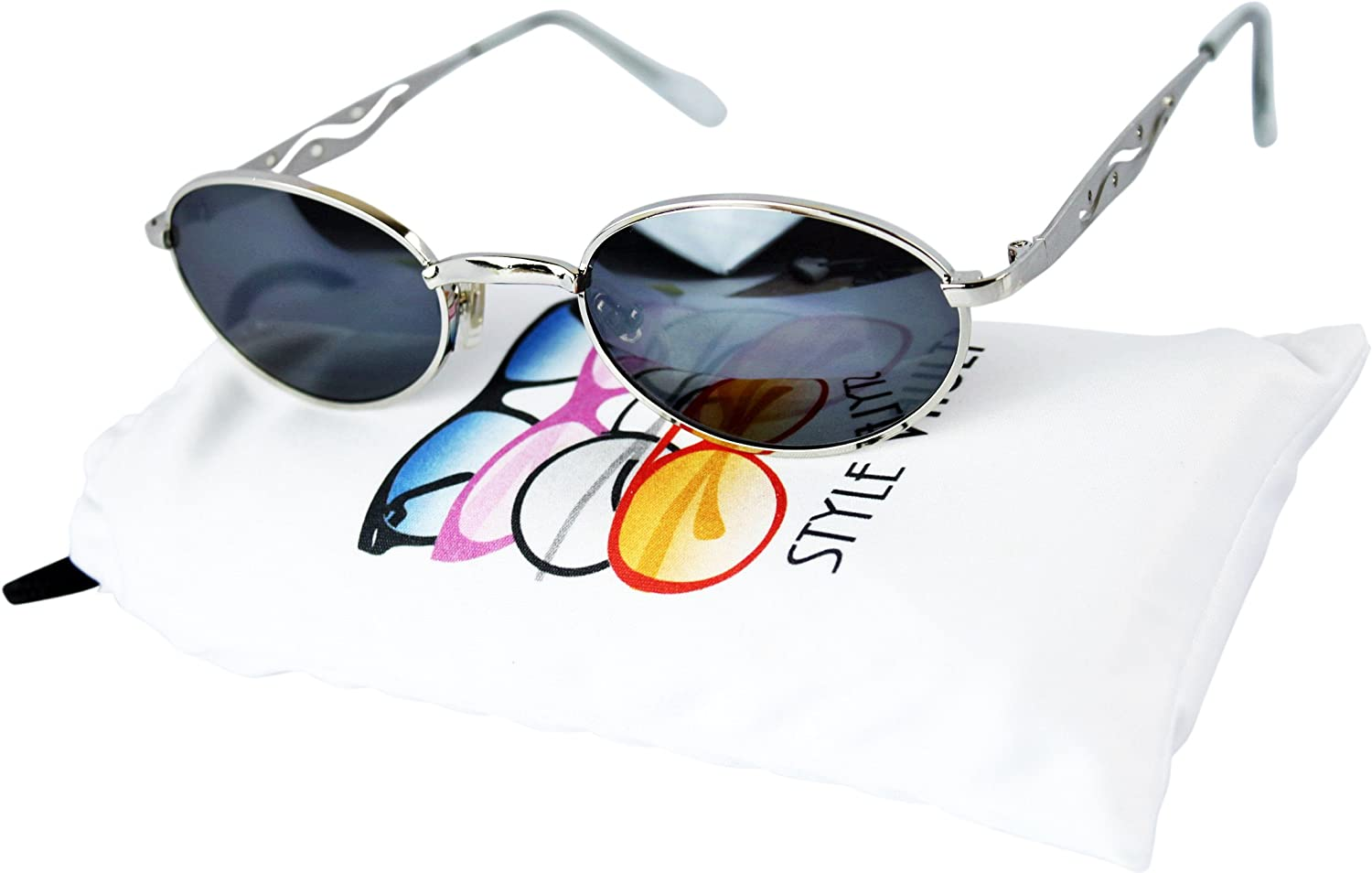 V3024op Style Vault Oval Round 80s 90s Metal Sunglasses