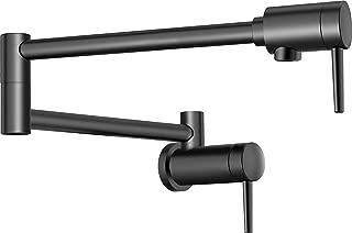 Delta Faucet Contemporary Wall-Mount Pot Filler Faucet, Matte Black 1165LF-BL