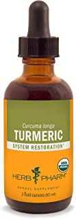 Herb Pharm Certified Organic Turmeric Root Liquid Extract for Musculoskeletal System Support - 2 Ounce