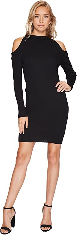 Bishop + Young - Ribbed Cold Shoulder Dress