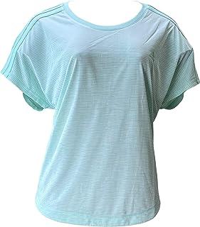 adidas Womens 3-Stripes Climalite Short Sleeve Crew Neck T-Shirt