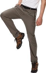 NATUVENIX Men's Straight Fit Lightweight Hiking Pants