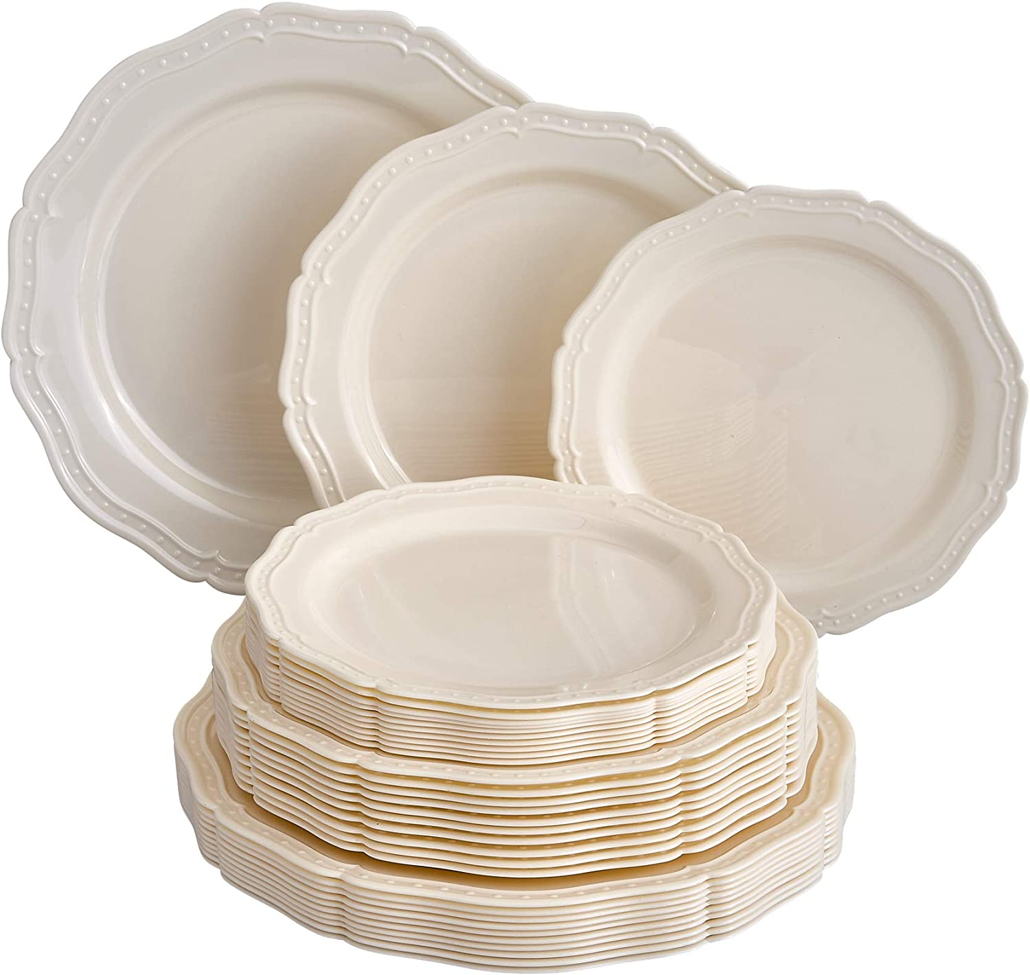 30 PC PLASTIC PLATE SET Disposable Party C Direct Same day shipping sale of manufacturer Plates French for