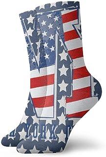 yting, Niños Niñas Locos Divertidos Estados Unidos Patriótico Bandera americana Nueva York Estrellas Rayas Calcetines lindos del vestido de la novedad
