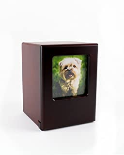 Midlee Picture Frame Memory Pet Urn in Black Cherry