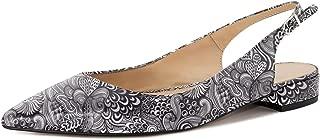 Eldof Women Low Heels Pumps | Pointed Toe Slingback Flat Pumps | 2cm Classic Elegante Court Shoes
