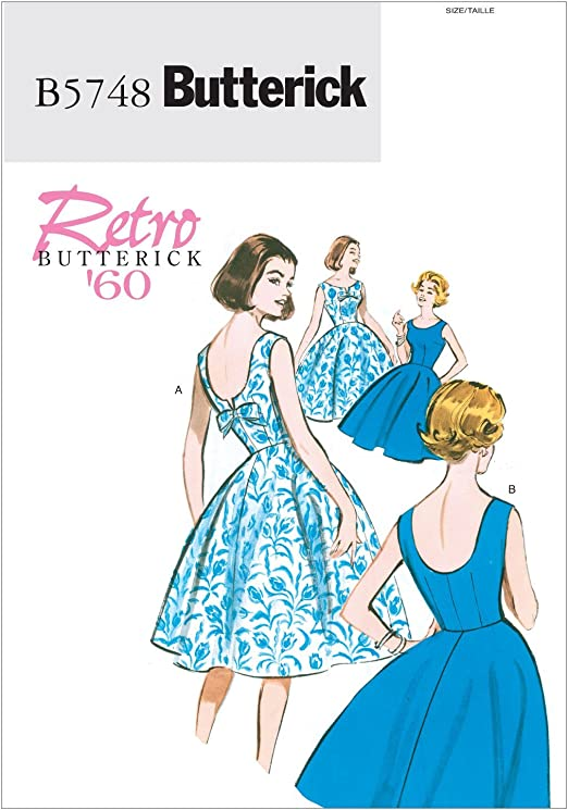Amazon.com: BUTTERICK PATTERNS B5748 Misse/Misse Petite Dress, Size E5  (14-16-18-20-22) : Arts, Crafts & Sewing