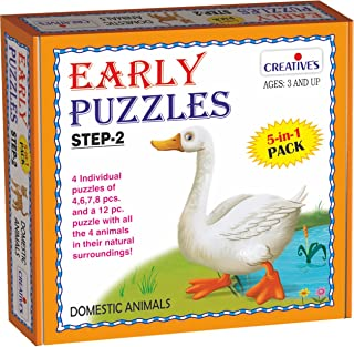 Creative Educational Early Puzzles Step II-Domestic Animals