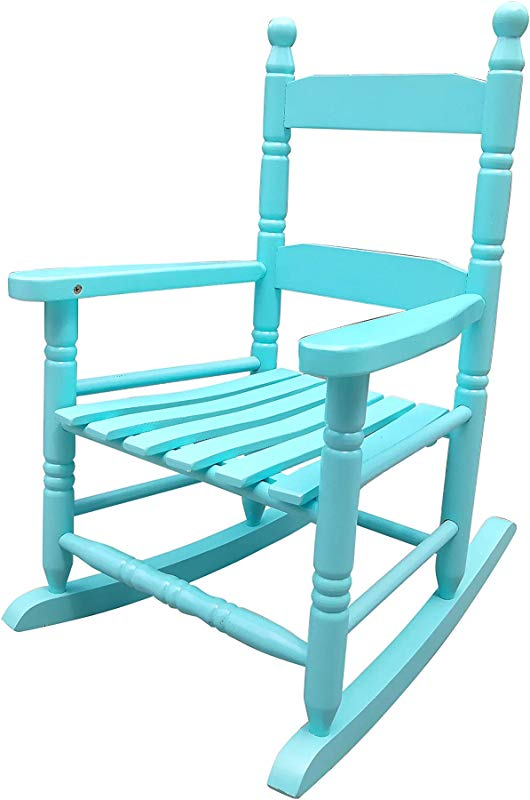 Rockingrocker K10BU Light Blue Child S Rocking Chair Porch Rocker Indoor Or Outdoor Suitable For 1 To 4 Years Old