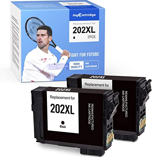 discount MYCARTRIDGE high quality Remanufactured Ink Cartridge Replacement for Epson 202XL 202 XL for Workforce WF-2860 Expression Home high quality XP-5100 (2 Black) online sale