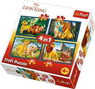 """Puzzles -""""4in1"""" - King Lion/Disney"""