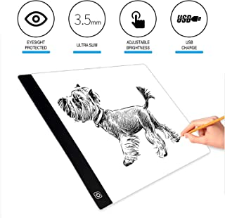 Light Pad Drawing,EUG Portable Ultra Thin LED A4 Light Box Tracing with USB Charge for Artists,Drawing,Sketching,Animation,X-ray Viewing