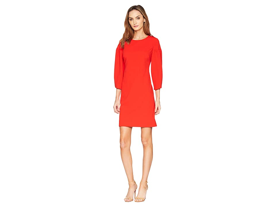 Vince Camuto Bubble Sleeve Crepe Ponte Dress (Spectrum Red) Women