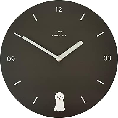 Unique Decorative Wall Clock Silent Non-Ticking Quartz Round 9 Inch Premium Paper Lightweight 7oz