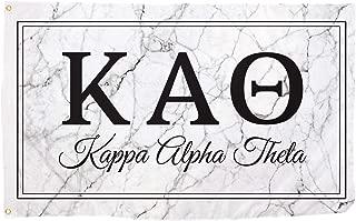 Kappa Alpha Theta Marble Box Letter Sorority Flag Banner 3 x 5 Sign Decor Theta - Marble Box