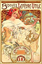 Pyramid America Alphonse Mucha Biscuits Lefeure Utile Cool Wall Decor Art Print Poster 24x36
