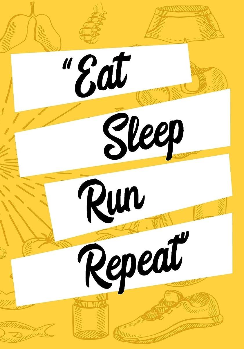 符号ロッドいまEat Sleep Run Repeat: Race Keepsake Notebook Diary