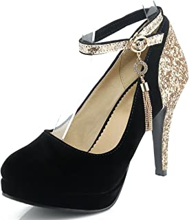 Best black heels with spikes on the back Reviews