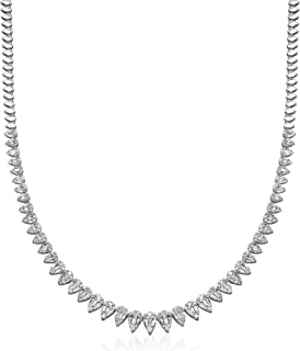 Ross-Simons 3.85 ct. t.w. Diamond Necklace in 18kt White Gold