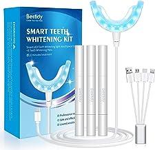 Teeth Whitening Kit with LED Light,Professional Dental Whitening Set with 3 Teeth Whitening Gel Syringes,Effective, Natura...
