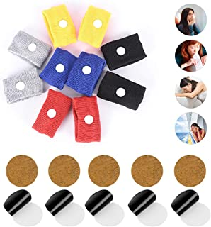 ifory 10 Counts Ear Anti Motion Sickness Patch & 10 Count Sea Motion Sickness Wristbands for Cruise, Car, Kids, Travel, Morning Sickness, Anti Nausea with Non Drowsy