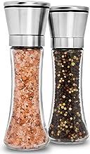 Home EC Premium Stainless Steel Salt and Pepper Grinder Set of 2 - Adjustable Ceramic Sea Salt Grinder & Pepper Grinder - ...