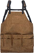 YTGH Werkgereedschap Schort voor mannen en vrouwen, cadeau voor houtbewerker, duurzaam canvas slabbetje schort voor timmer...