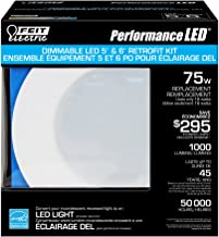 Feit ledr56/850/can 75-watt Replacement 5/6-Inch Dimmable Retrofit Kit, Daylight