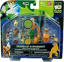 Ben 10 Alien Creation Chamber Mini Figure 2Pack Heatblast & Wildmutt