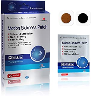 Anti-Nausea Motion Sickness Relief Patch,20 Count/Box