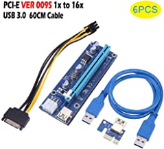 PCIe Riser - Dxlta 1pc / 6pcs / 12pcs Tarjeta vertical PCI-E, 1x a 16x USB 3.0 VER 009S Cable de Ethereum Bitcoin Mining Rig (6pcs)