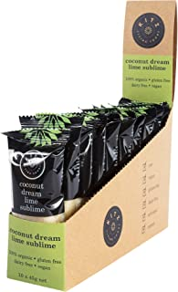 KITZ Organic Coconut Dream Lime Sublime Vegan Bar | Healthy Snacks for lunch box | Dairy Free and Gluten Free | 10 Count x...