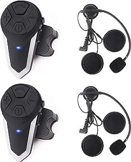 Motorcycle Bluetooth Headset Yaconob BT-S3 1000m Motorcycle Helmet Bluetooth Radio Intercom Wireless Interphone to 2-3 Riders (Waterproof/Handsfree/Stereo Music/FM Radio/GPS/MP3)2 Pack