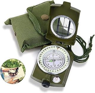 Punvot Kompass, militär marschkompass, kompass utomhus, professionell navigeringskompass med fluorescerande design, militä...