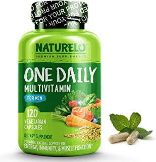 NATURELO One Daily Multivitamin for Men – with Whole Food Vitamins, Organic..
