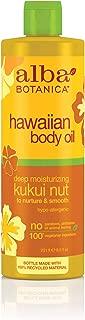 Alba Botanica Hawaiian Body Oil; Deep Moisturizing Kukui Nut, 250 ml