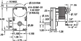 Dayton 1LNF8 AC Gearmotor 115 Nameplate RPM 6 Max. Torque 150.0 in.-lb. Enclosure Open