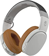 Skullcandy Crusher Bluetooth Wireless Over-Ear Headphone with Microphone, Noise Isolating Memory Foam Gray/Tan (Renewed)
