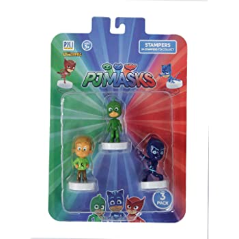 Pj Masks Stampers Blister 3 (S1) - Gekko, Greg, Night Ninja for Kids 3+ Years & Above
